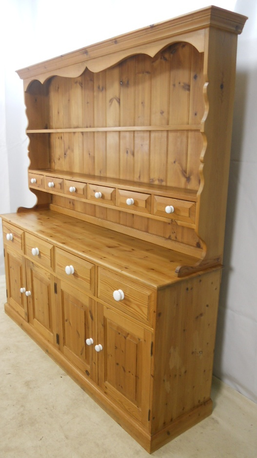 Large Pine Welsh Dresser Cupboard Sold